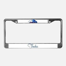 Trucker By Deb's Grafix License Plate Frame