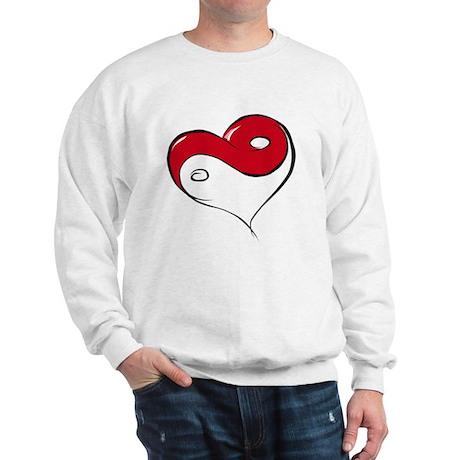 Ying Yang Heart Sweatshirt