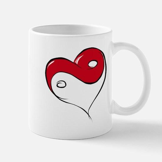 Ying Yang Heart Mug