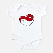 Ying Yang Heart Infant Bodysuit
