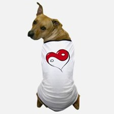 Ying Yang Heart Dog T-Shirt