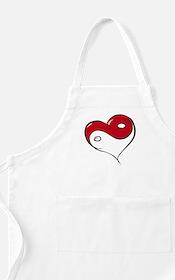Ying Yang Heart BBQ Apron