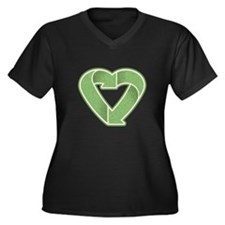 Recycling is Love Women's Plus Size V-Neck Dark T-