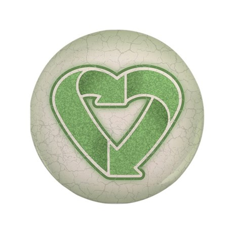 """Recycling is Love 3.5"""" Button (100 pack)"""