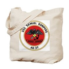 USS Samuel Gompers (AD 37) Tote Bag