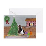 Bassett hound christmas Greeting Cards (10 Pack)