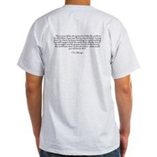 "Who is John Galt? ""To Shrug"" Quote T-Shirt"