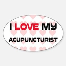I Love My Acupuncturist Oval Decal