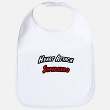 """Heart Attack Superhero"" Bib"