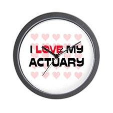 I Love My Actuary Wall Clock