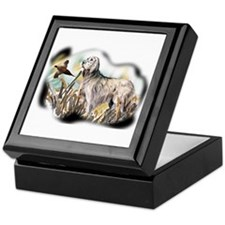 setter and pheasant Keepsake Box