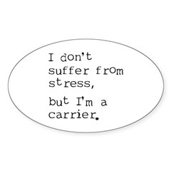Stress Carrier Oval Decal