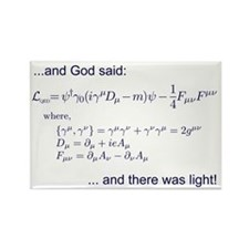 God said, let there be light (QED) Rectangle Magne
