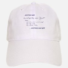 God said, let there be light (QED) Baseball Baseball Cap