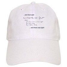God said, let there be light (QED) Baseball Cap