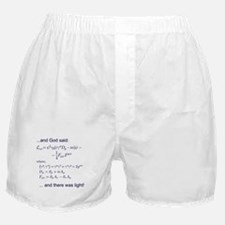 God said, let there be light (QED) Boxer Shorts
