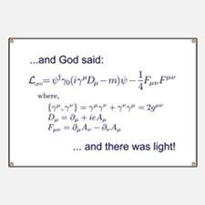 God said, let there be light (QED) Banner
