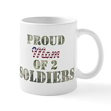 Proud Mom of 2 Soldiers Mug