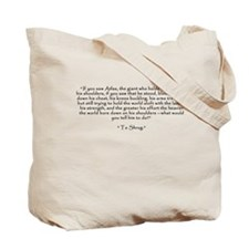 "Who is John Galt? ""To Shrug"" Quote Tote Bag"