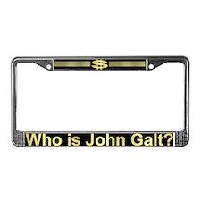 Who is John Galt? Atlas Shrugged License Plate Fra