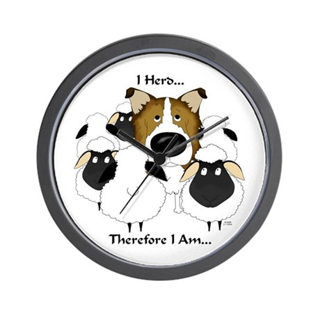 Rough Collie - I Herd... Wall Clock