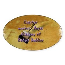 """Badger Buddies"" Oval Decal"