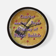 """""""Badger Buddies"""" Wall Clock"""