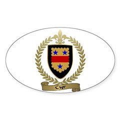 CYR Family Crest Oval Decal