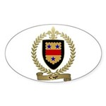 CYR Family Crest Oval Sticker