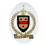 CYR Family Crest Oval Ornament