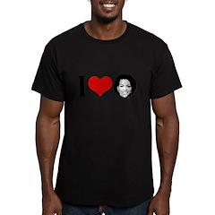 I Heart Michelle Obama Men's Fitted T-Shirt (dark)