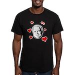 I heart McCain Men's Fitted T-Shirt (dark)