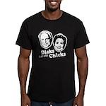 Dicks before Chicks Men's Fitted T-Shirt (dark)