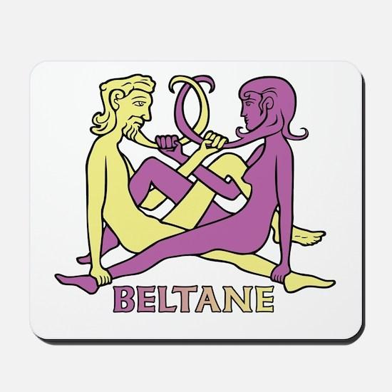 Beltane Knot Mousepad (yellow/purple)
