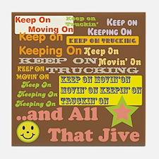 70s Optimism Brown Tile Coaster