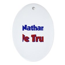 In Nathaniel We Trust Oval Ornament