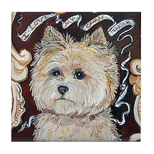 Cairn Terrier - Dog Portrait Tile Coaster