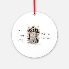Cairn Terrier - Dog Portrait Ornament (Round)