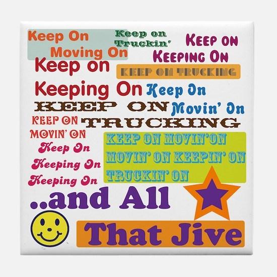 70s Optimism Tile Coaster