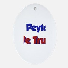 In Peyton We Trust Oval Ornament