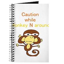 """""""Caution while Monkey N Aroun Journal"""