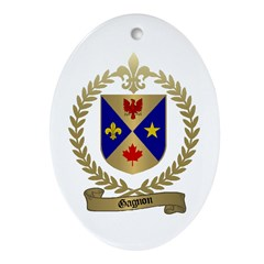 GAGNON Family Crest Oval Ornament