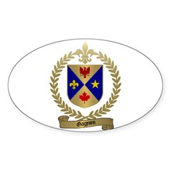 GAGNON Family Crest Oval Decal