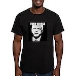 Even Worse President Men's Fitted T-Shirt (dark)