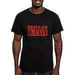RESTRAIN MCCAIN Men's Fitted T-Shirt (dark)