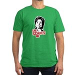 Anti-Hillary: She Scares Me Men's Fitted T-Shirt (