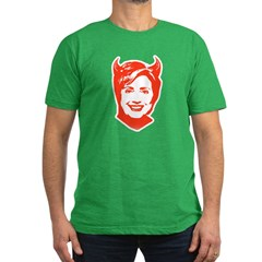 Hillary the Devil Men's Fitted T-Shirt (dark)