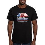 Clinton for President Men's Fitted T-Shirt (dark)