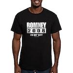Romney 2008: I'm wit Mitt Men's Fitted T-Shirt (da