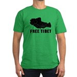 Free Tibet Men's Fitted T-Shirt (dark)